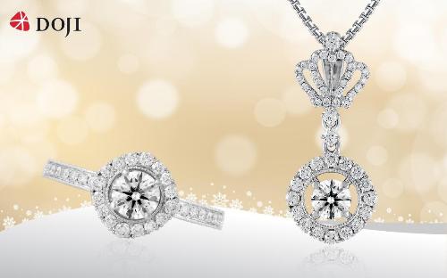 Cùng với trang phục thời thượng, trang sức kim cương có thiết kế độc đáo trong BST Queen of Hearts sẽ tạo nên hiệu ứng thị giác để bạn gái thêmấn tượng và tỏa sáng trong những buổi dạ tiệc cuối năm.