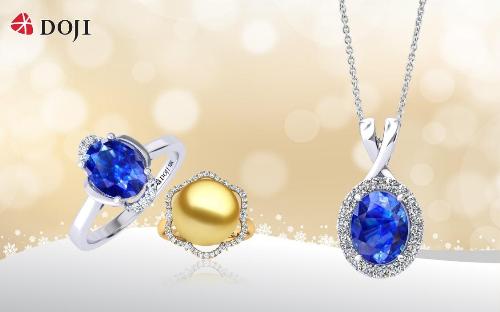 Đồng điệu với không gian tiệc lung linh ánh đèn là sắc màu của những viên đá quý thiên nhiên hay ngọc trai được kết tinh từ đại dương. Món trang sức sẽ tôn vẻ thanh lịch và tinh tế cho các quý cô.