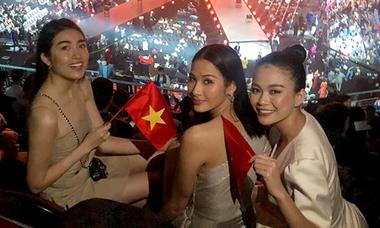 Các á hậu sang Thái Lan cổ vũ H'Hen Niê thi Miss Universe