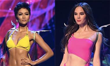 H'Hen Niê và Top 10 Miss Universe trình diễn bikini