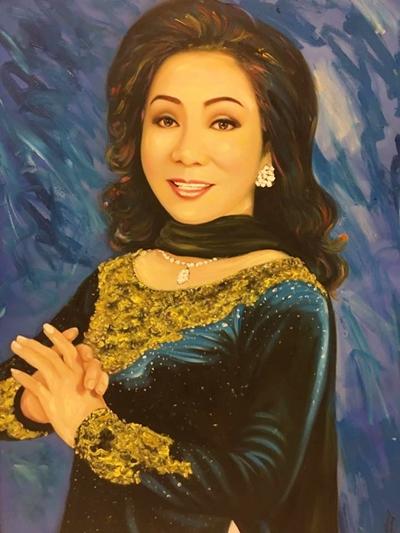 Thanh Tòng, Út Bạch Lan và hơn 100 nghệ sĩ qua tranh sơn dầu - 3