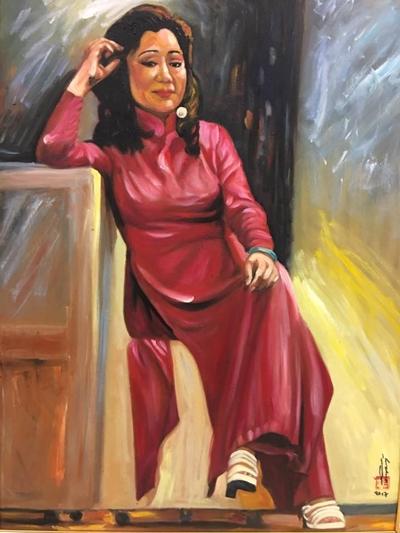 Thanh Tòng, Út Bạch Lan và hơn 100 nghệ sĩ qua tranh sơn dầu - 5