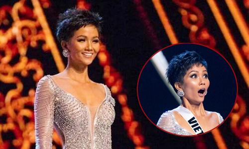 Khán giả xúc động với biểu cảm của H'Hen Niê khi vào Top 5 Miss Universe