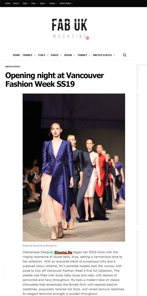 BST của nhà thiết kế Việt Nam cũng xuất hiện trêntạp chí FAB của UKngày 25/9.