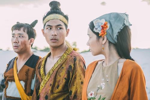 Từ trái sang: bộ ba nhân vật Xẩm, Trạng Quỳnh, Điềm.