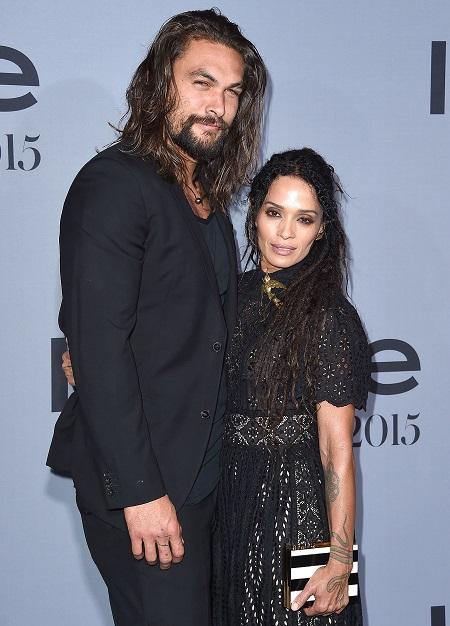Jason Momoa và vợ.