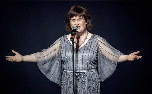Susan Boyle được đánh giá cao khi tham gia cuộc thi tìm kiếm tài năng của Mỹ.Ảnh:Rex.