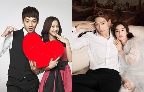 Ngày đầu năm 2013, Dispatch đăng tải loạt ảnh Tae Hee và Rain bí mật hẹn hò. Đại diện hai bên liền thừa nhận. Theo trang này, họ nảy sinh tình cảm vào tháng 10/2011 khi quay chung quảng cáo (trái). Rain chủ động theo đuổi người đẹp hơn anh hai tuổi. Tháng 10 năm đó, Rainnhập ngũ. Việc lén ra ngoài hẹn hò bạn gái khi đang thực hiện nghĩa vụ quân sự khiến Rain nhận nhiều chỉ trích. Đầu năm 2017, cặp sao kết hôn và sinh con đầu lòng sau đó 10 tháng.