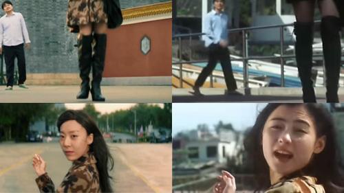 Nhân vật nữ trong Tân hỷ kịch chi vương (trái) và tạo hình Trương Bá Chi trong Hỷ kịch chi vương.