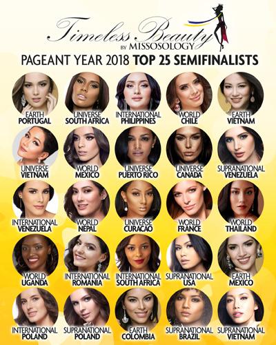 25 gương mặt của bảng bình chọn Timeless Beauty.