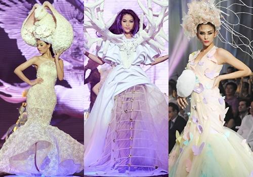 Show này còn gây chú ý khi cónhiều ngôi sao trình diễn như Trương Ngọc Ánh (giữa), Hồng Quế (trái) và Võ Hoàng Yến.
