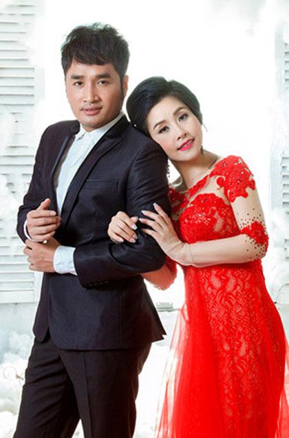 Nghệ sĩ Kiều Oanh và Hoàng Nhất.