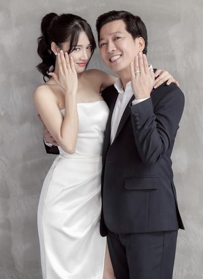 Trường Giang, Nhã Phượng chụp ảnh cưới công bố kết hôn năm 2018.