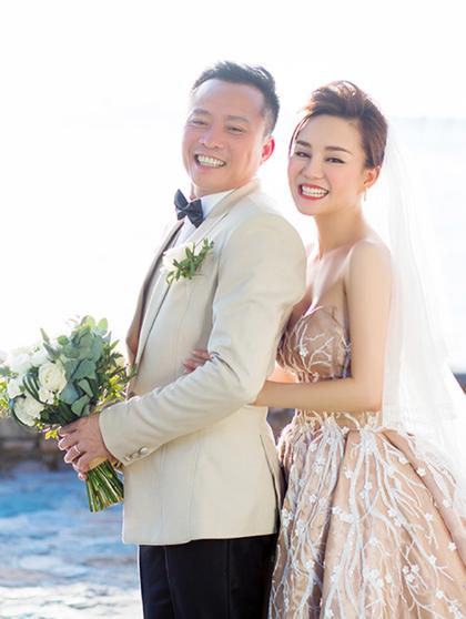 Ảnh cưới của vợ chồng Vy Oanh.