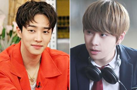 Hai ca sĩ Lee Ki Kwang (trái) và Yong Jun Hyung.