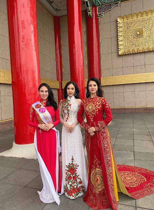 Thu Hoàng toả sáng trong trang phục áo dài của nhà thiết kế Ngô Nhật Huy (xin bài edit) Linhbd - 4