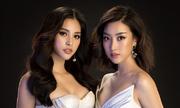 Hoa hậu Mỹ Linh, Tiểu Vy đọ dáng với váy cắt xẻ