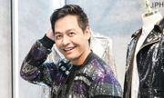 MC Phan Anh diện trang phục lấp lánh đi sự kiện