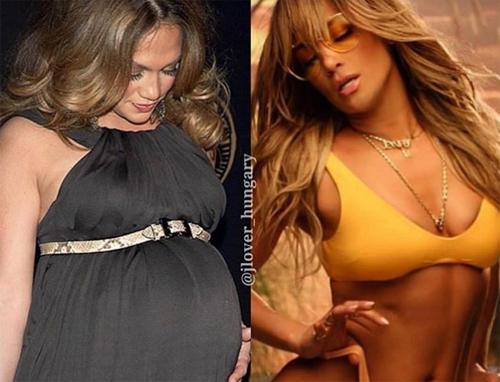 Jennifer Lopez đăng ảnh của cô năm 2008, khi đang mang thai cặp sinh đôi với Marc Anthony, và vẻ nóng bỏng hiện tại.