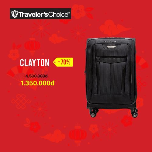 Sản phẩm Clayton thương hiệu Travelers Choice xuất xứ từ Mỹ giảm từ 4,5 triệu đồng còn 1,35 triệu đồng.