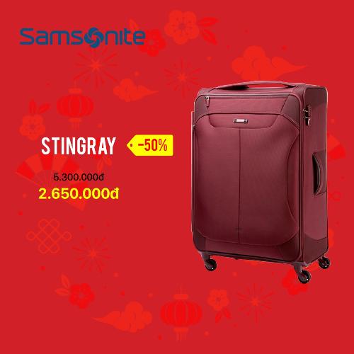 Samsonitelà thương hiệu vali nổi tiếng tại Mỹ, gắn liền với lịch sử phát triển của ngành du lịch. Dòng sản phẩm tiêu biểu của hãng là vali Stingray giảm 50% trong dịp cuối năm này. Thiết kế mang phong cách hiện đại và thời trang. Sản phẩm bảo hành quốc tế 3 năm.