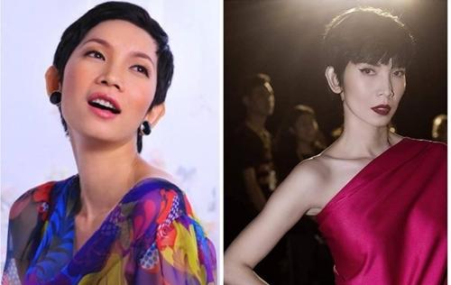 Người mẫu Xuân Lan không thay đổi là mấy sau 10 năm. Cô vẫn trung thành với kiểu tóc tém quen thuộc,