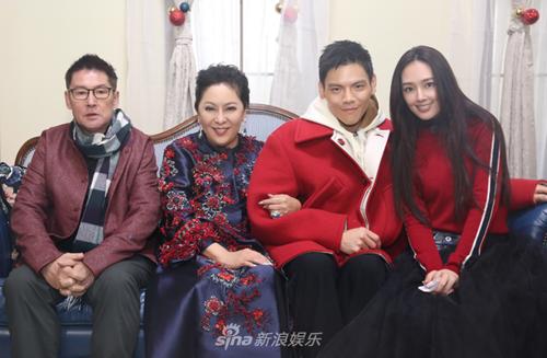 Từ trái sang: Cha của Quách Bích Đình, Trần Lam, Hướng Tả và Quách Bích Đình.