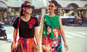 Vũ Ngọc và Son lăng xê váy áo hoa hải đường dịp Tết Kỷ Hợi