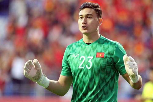 Đặng Văn Lâm khi thi đấu với vai trò thủ môn đội tuyển Việt Nam. Ảnh: Anh Khoa.
