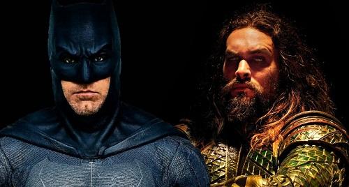 Aquaman (phải) thành trụ cột Vũ trụ Điện ảnh DC còn Batman (trái) thay người đóng.