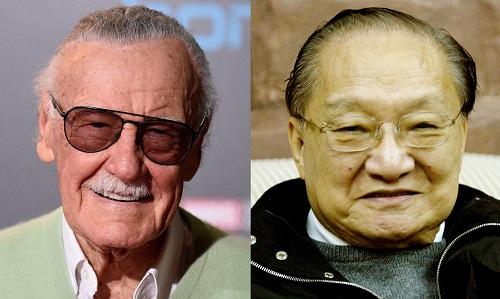 Stan Lee (trái) và Kim Dung.