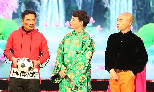 Bộ ba Ngọc Hoàng (Quốc Khánh), Nam Tào (Xuân Bắc), Bắc Đẩu (Công Lý) - từ trái sang - vẫn giữ vai trò cầm trịch buổi chầu.