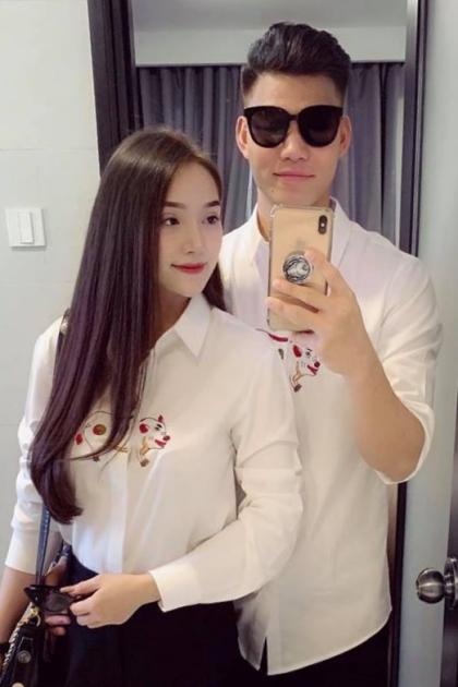 Sở thích diện áo đôi cùng người yêu của cầu thủ Việt  - 10