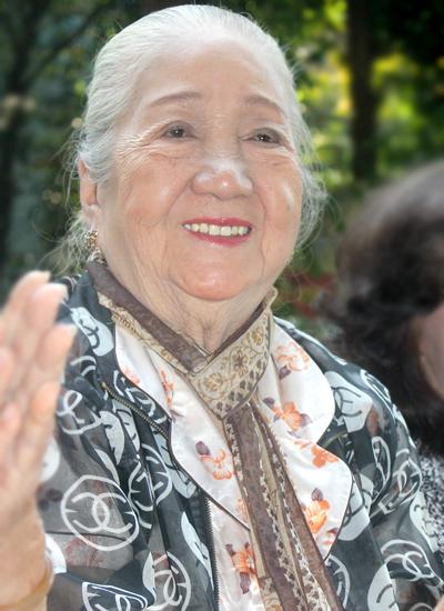 Diễn viên Thiên Kim đón Tết Kỷ Hợi ở Viện dưỡng lão nghệ sĩ TP HCM. Ảnh: Mai Nhật.