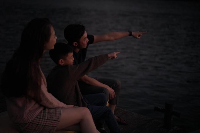 Cường Đôla cùng vợ con du xuân ở Đà Lạt