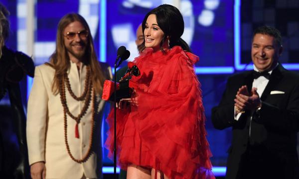 Kacey nhận giải thưởng quan trọng nhất - Album của năm. Ảnh: AFP.