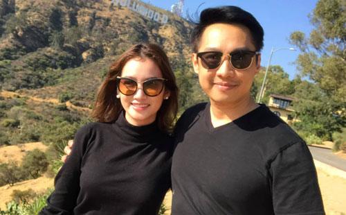 Trương Tri Trúc Diễm qua Mỹ đón Tết cùng gia đình chồng. Cô cho biết năm 2019 cô đẩy mạnh việc kinh doanh thời trang.