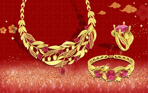 Bên cạnh đó, các bộ trang sức vàng 24K kết hợp cùng đá quý nằm trong dòng sản phẩm Quận Chúa không chỉ thu hút phái đẹp mà còn khiến cánh mày râu yêu thích. Đây vừa là món quà làm đẹp giá trị cho người phụ nữ yêu thương, vừa là vật chứng cho tình yêu trong những dịp quan trọng như đầu xuân năm mới, Valentine, 8/3...