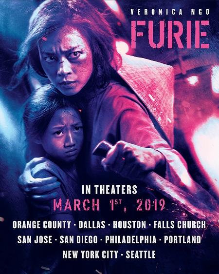 Poster Hai Phượng ở Mỹ.