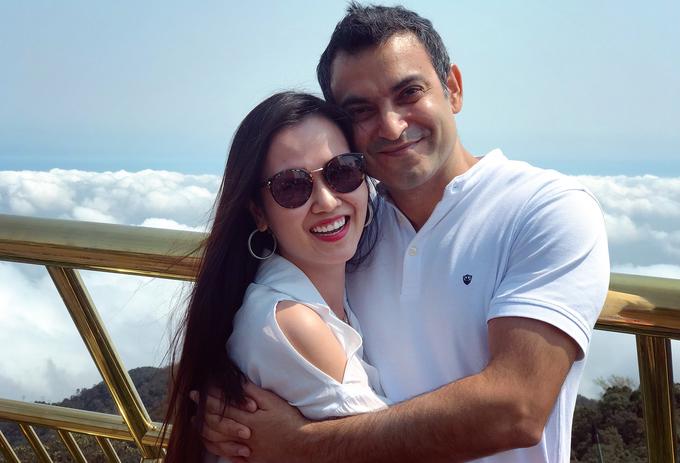 Võ Hạ Trâm cùng chồng Ấn Độ hưởng trăng mật ở Đà Nẵng