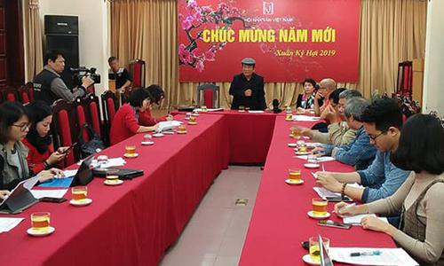Nhà thơ Trần Đăng Khoa chia sẻ tại họp báo chiều 13/2.