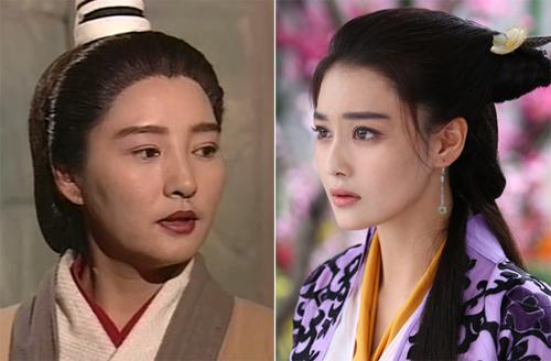 Tuyết Lê (trái) và Trương Hinh Dư - hai diễn viên từng đóng Lý Mạc Sầu.