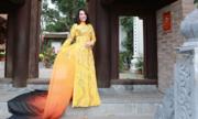 Hoa hậu Tô Thị Phượng nổi bật với áo dài thêu rồng phượng