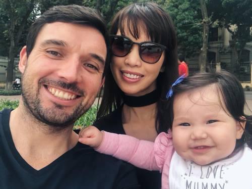 Hà Anh kết hôn năm 2016, sinh con gái Myla năm ngoái.