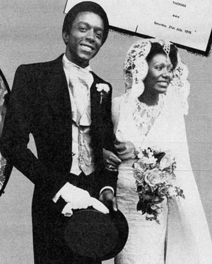 Liz và Thomas trong đám cưới tháng 7/1979.