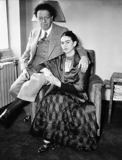 Frida Kahlo và Diego Rivera.
