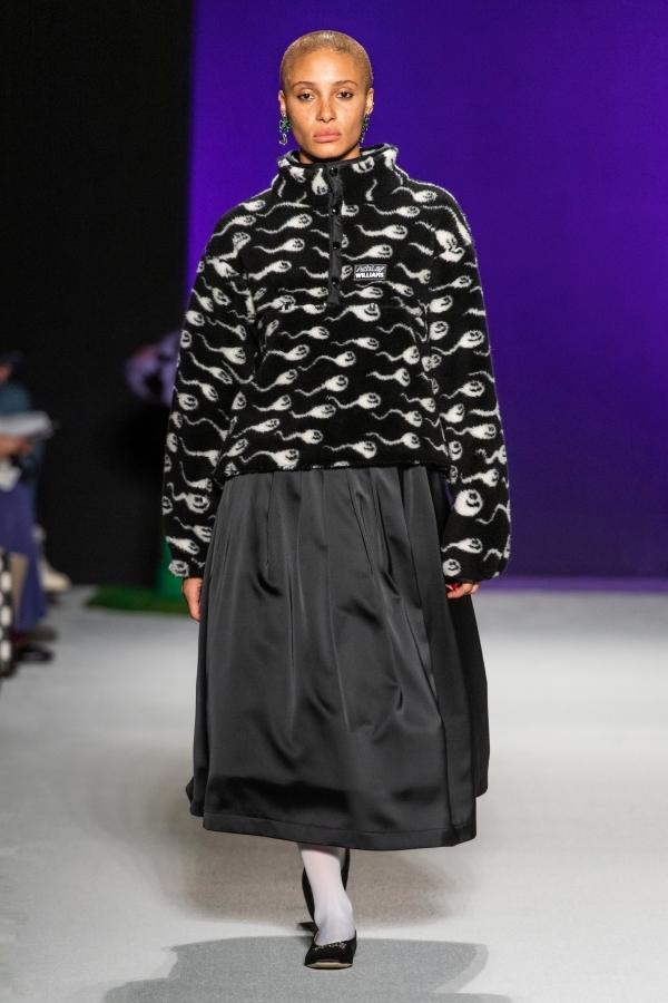 Váy áo họa tiết tinh trùng gây sốc ở London Fashion Week