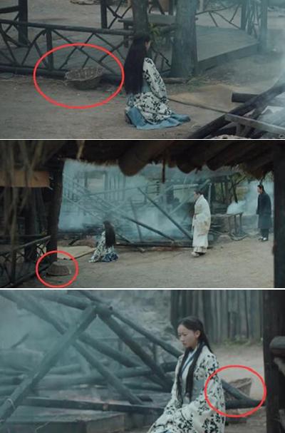 Chiếc rành ma khi úp khi ngửa dù không ai đụng tới trong một cảnh quay.