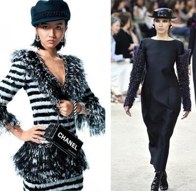 Các người mẫu Koki, Soo Joo Park thể hiện thiết kế của Chanel.