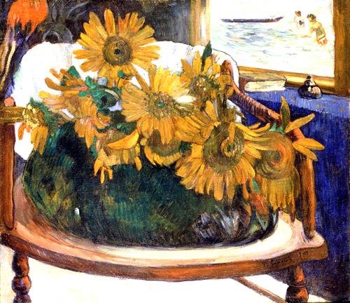 Paul Gauguin  Sunflowers on an Armchair  1901